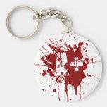 Un tipo de sangre positivo para los vampiros y los llavero personalizado
