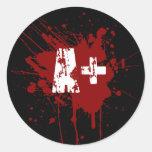 Un tipo de sangre positivo para los vampiros y los pegatinas redondas