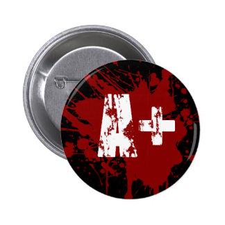 Un tipo de sangre positivo para los vampiros y los pin redondo 5 cm