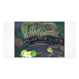 Un tipo imagen de Monet en una tarjeta Plantilla Para Tarjeta De Foto