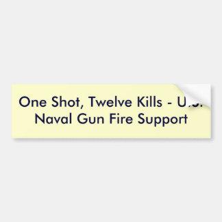 Un tiro, doce matanzas - fuego Su del arma naval d Pegatina Para Auto