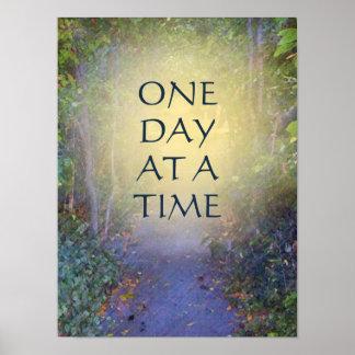 Un toldo de árbol del día a la vez póster