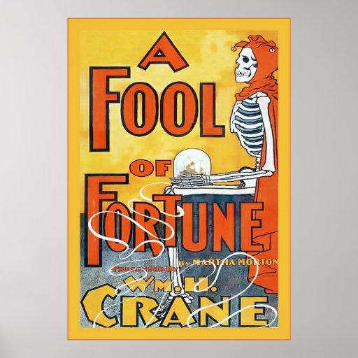 Un tonto del poster del teatro del vintage del ~ póster