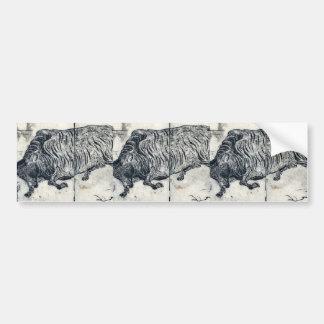 Un toro o un buey grande por Tachibana, Morikuni U Pegatina Para Auto