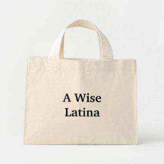 Un tote sabio de Latina Bolsa Tela Pequeña