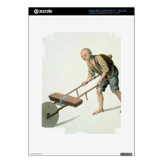 """Un trabajador, platea 27 """"del traje de China"""", iPad 3 Pegatina Skin"""