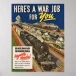 Un trabajo de la guerra para usted poster