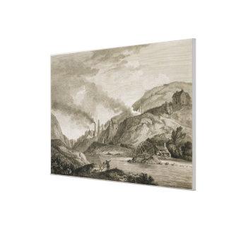 Un trabajo del hierro para echar del cañón y de Bo Impresión En Lienzo