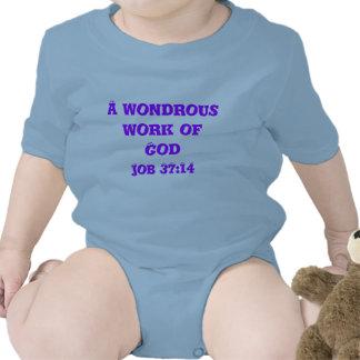 Un trabajo maravilloso de dios traje de bebé