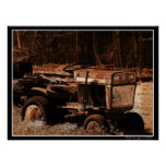 Un tractor viejo impresiones