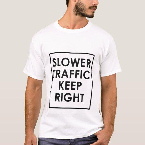 Un tráfico más lento guarda a la derecha playera