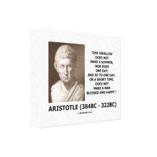 Un trago no hace que un verano Aristóteles cita Impresiones De Lienzo