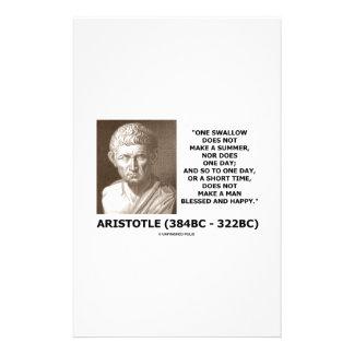 Un trago no hace que un verano Aristóteles cita Personalized Stationery