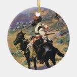 Un trampero indio por Remington, oeste salvaje del Ornamento De Reyes Magos
