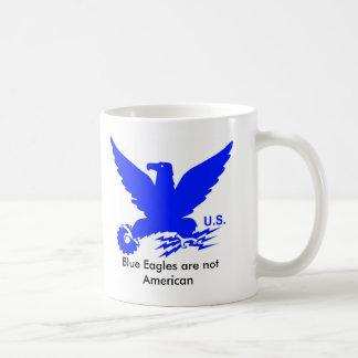 Un trato crudo - Eagle azul Tazas De Café