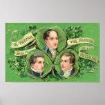 Un trébol estimado al corazón de todos los irlande poster