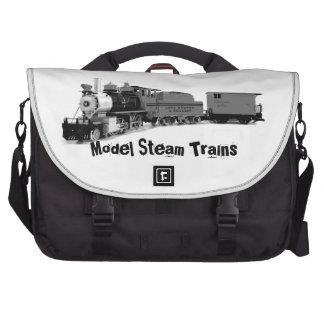 Un tren modelo del vapor bolsas para ordenador