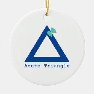 Un triángulo lindo adorno redondo de cerámica