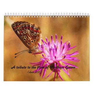 Un tributo a la flora de Grecia septentrional Calendarios De Pared