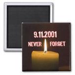Un tributo a nuestros héroes caidos del 11 de sept imanes de nevera