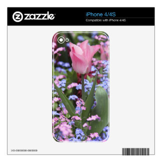 Un tulipán en Luxemburgo cultiva un huerto, París, iPhone 4 Skin