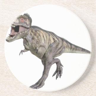 Un Tyrannosaurus Rex que corre a la derecha Posavasos Personalizados