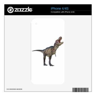Un Tyrannosaurus Rex que mira para arriba y que Calcomanías Para El iPhone 4