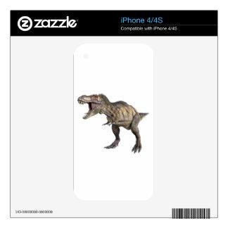 Un Tyrannosaurus Rex que se coloca y que parece iPhone 4 Skin