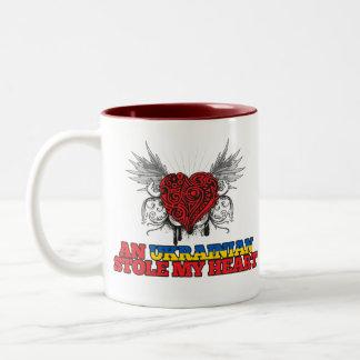Un ucraniano robó mi corazón taza de dos tonos