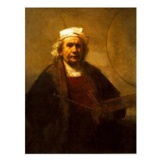 Un último protrait del uno mismo de Rembrandt, a p Tarjeta Postal