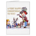 Un Unbirthday feliz a usted Tarjeta De Felicitación
