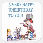 ¡Un Unbirthday muy feliz a usted! Pegatina Cuadrada