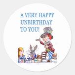 ¡Un Unbirthday muy feliz a usted! Pegatina Redonda