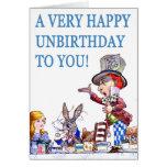 ¡Un Unbirthday muy feliz a usted! Tarjeta De Felicitación