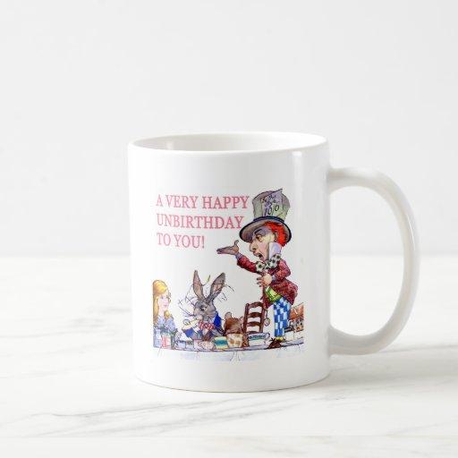 ¡Un Unbirthday muy feliz a usted! Tazas De Café