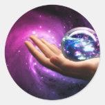 Un universo dentro de productos etiquetas redondas