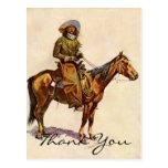 Un vaquero de Arizona de Remington Tarjeta Postal