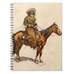 Un vaquero de Arizona por arte occidental del Libros De Apuntes Con Espiral