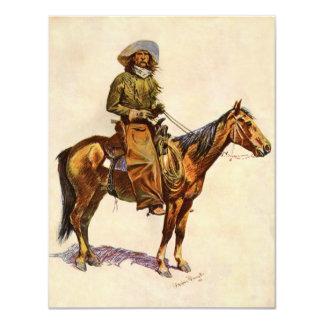 """Un vaquero de Arizona por arte occidental del Invitación 4.25"""" X 5.5"""""""