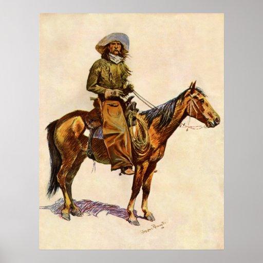 Un vaquero de Arizona por arte occidental del Póster