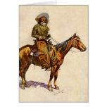 Un vaquero de Arizona por arte occidental del Tarjeta De Felicitación