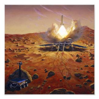 Un vehículo 2 de la subida de Marte Fotografías