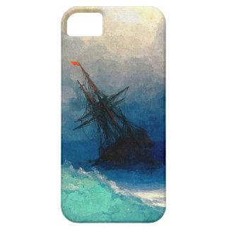 Un velero en una tormenta iPhone 5 protector