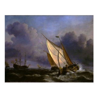 Un vendaval de levantamiento de Willem Van de Veld Postales