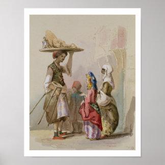 Un vendedor del pote, c.1855 póster