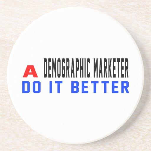 Un vendedor demográfico mejora posavasos personalizados