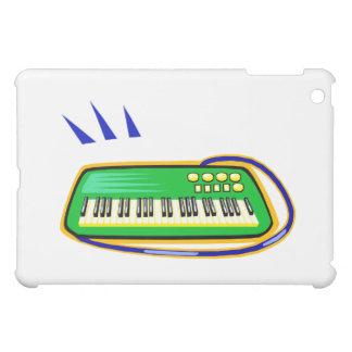 Un verde keytar con un gráfico azul de la correa