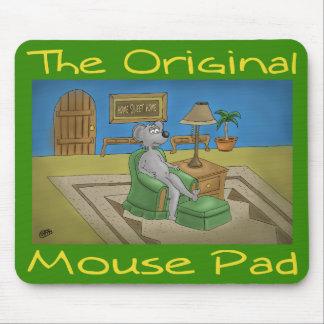 Un verde original del cojín de ratón mouse pads