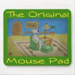 Un verde original del cojín de ratón tapetes de ratones