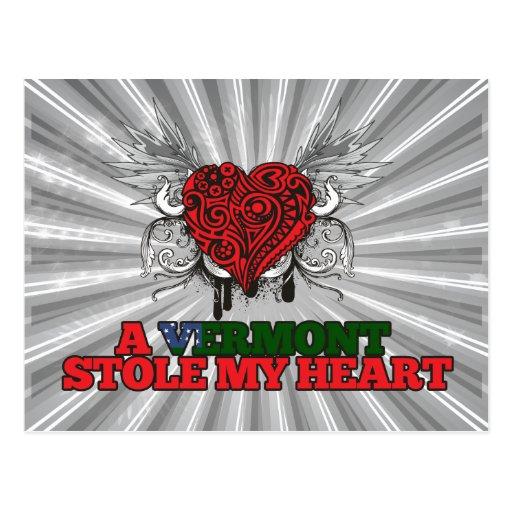 Un Vermont robó mi corazón Tarjetas Postales